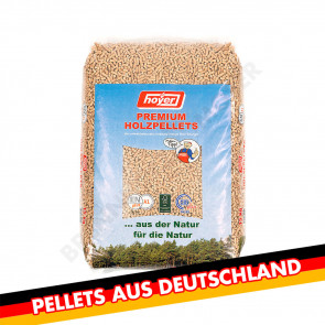 Holzpellets Sackware Palette, DinPlus A1, Hoyer Premium Pellet 6mm, 8x 66 Säcke je 15kg, Gesamt 7920kg - Made in Germany